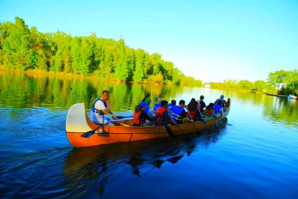 Discover many lagoons of the Toronto Islands on your next visit.