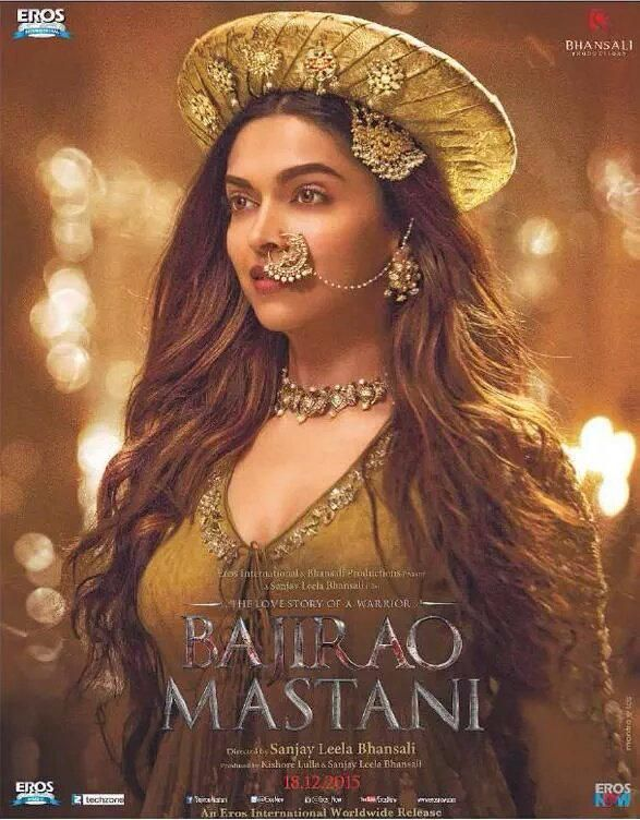 'Bajirao Mastani' Poster featuring Deepika Padukone