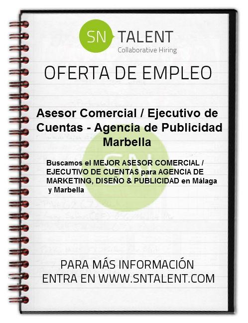 #Asesor Comercial / #Ejecutivo de #Cuentas - #Agencia de #Publicidad en #Marbella