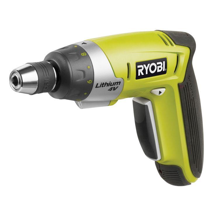 Ryobi 4V Li-Ion Cordless Screwdriver CSD4107BG   Departments   DIY at B&Q