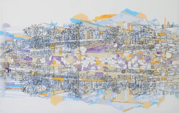 Michael Kellner drawing on Mylar