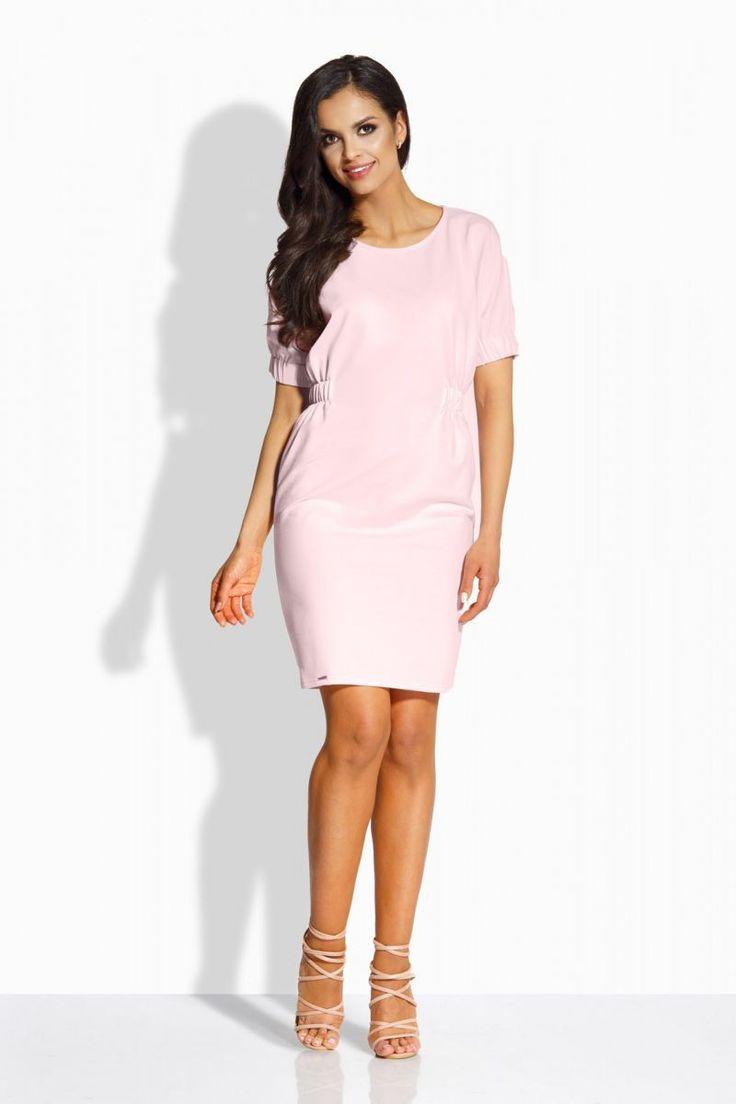 Κοντομάνικο μίνι φόρεμα.95% Cotton 5% Spandex