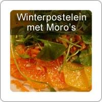 Winterpostelein met Moro bloedsinaasappels