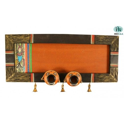 Wooden Panelled Name Plate with Nazar Bhattus