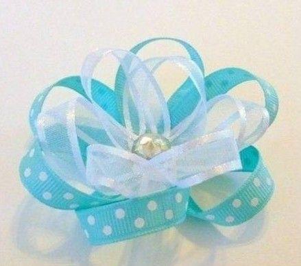 DIY Beautiful Blue Flower Bow
