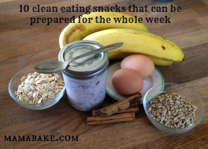 Healthy, clean eating snacks that can be made at the start of the week and eaten all week