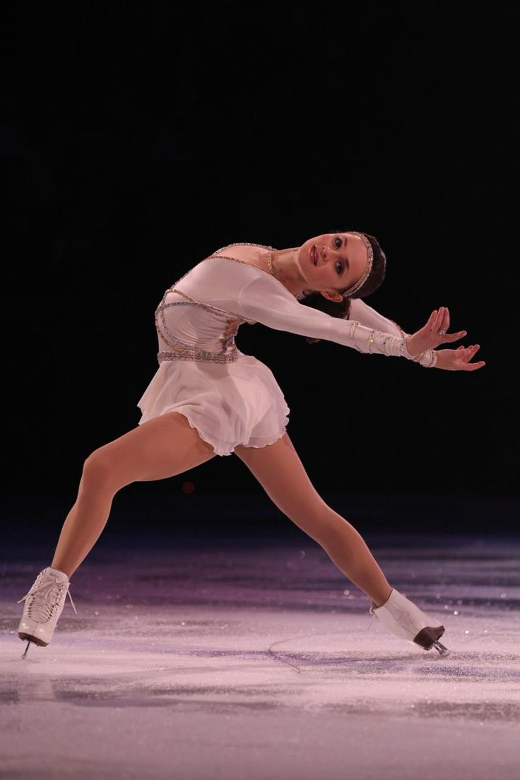 Sasha Cohen has a beautiful ina bauer! (:    one of my favorite figure skaters. i miss it =(
