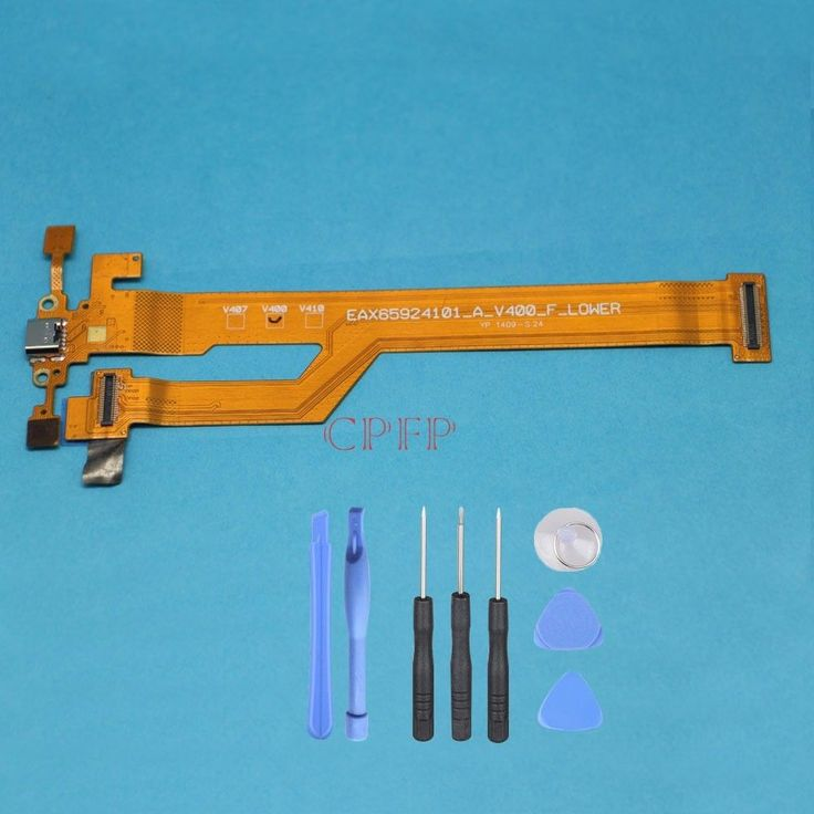 New USB Charging Port Charger Flex Cable For LG G Pad 7.0 V400 + Tool #Unbranded