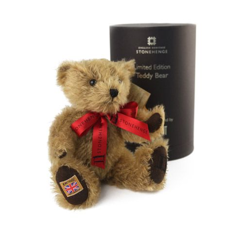 This delightful limited edition teddy bear has been beautifully hand-made in England using the finest vintage gold mohair exclusively for English Heritage.   http://www.english-heritageshop.org.uk/collectors/souvenirs/stonehenge-collectible-teddy