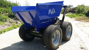 Max dumper with turf tyres for the upkeep of grassed areas.
