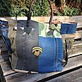 Sac sardine & cie collection jean/camouflage