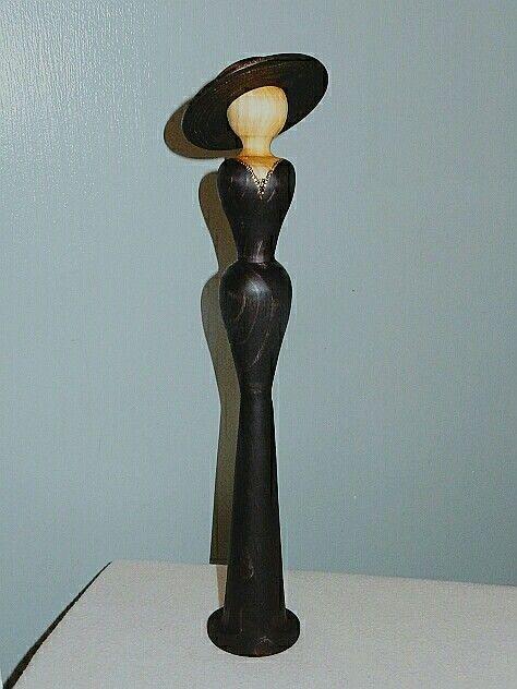 Woodturned lady