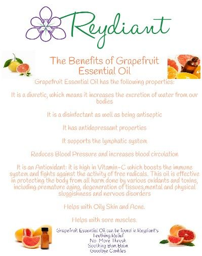 The benefits of Grapefruit Essential Oil!