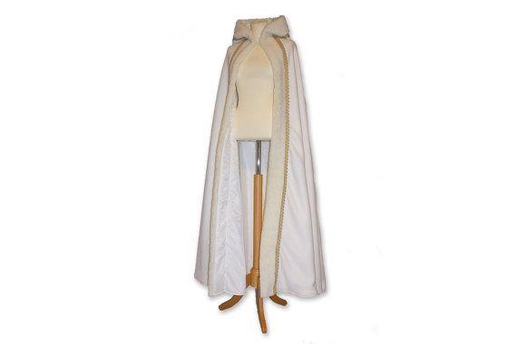 Snow Queen hooded cape medieval cape medieval by Gewandfantasien