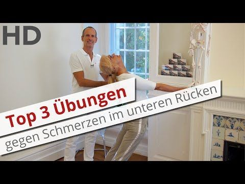 Top 3 Übungen gegen Schmerzen im unteren Rücken // Rückenschmerzen Lendenwirbelsäule