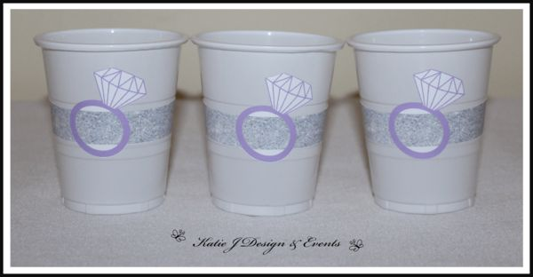 Silver Glitter Hens Party Cup Stickers #Silver #Glitter #Elegant #Hens #Hen #Bachelorette #Night #Bridal #Shower #Personalised #Custom #Party #Decorations #Beautiful #Bunting