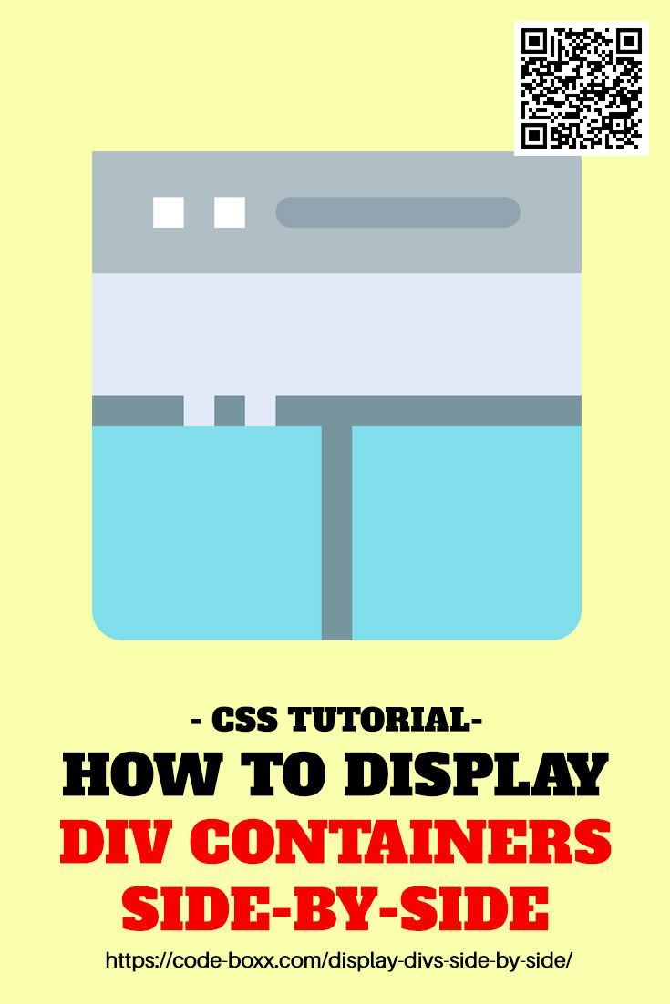 How To Display Div Containers Side By Side Css Html Webdeveloper Coding Programming Beginner Css Tutorial Web Development Programming Web Design Programs