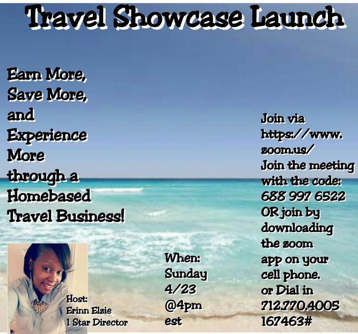 https://www.zoom.us/ Join the meeting with the code: 688 997 6522 OR join by downloading the zoom app on your cell phone. Listen only by phone 712.770.4005 167463# #mom #travel #sahm #workfromhome #entrepreneur