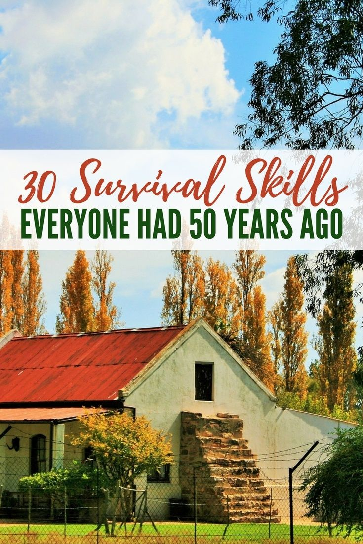 30 Survival Skills Everyone Had 50 Years Ago - You may think that life is better now and you have everything you could possibly want, but is that really true?