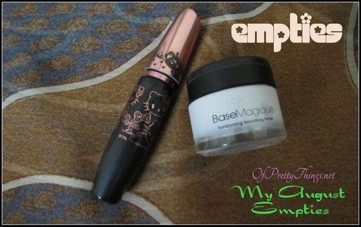My August Empties… A very late one.