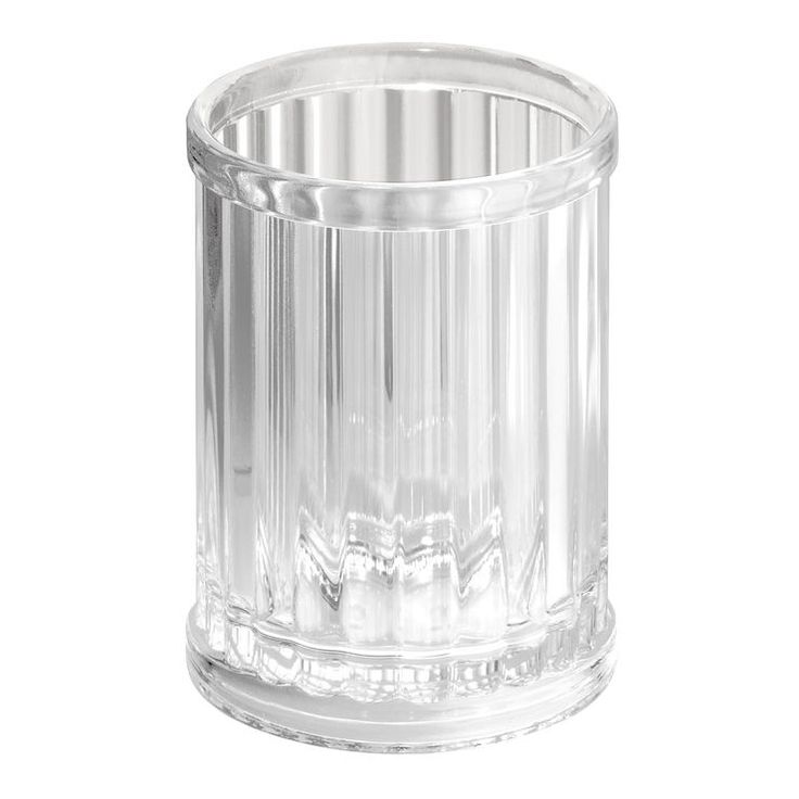 Alston Ribbed Bathroom Tumbler, Clear. $4.99
