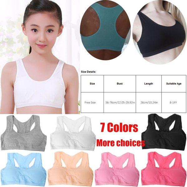 Kids young girls bras underwear belt vest sport training teenager bras TTPI