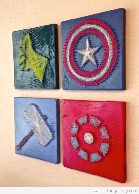 The Avengers 4 pieces String Art