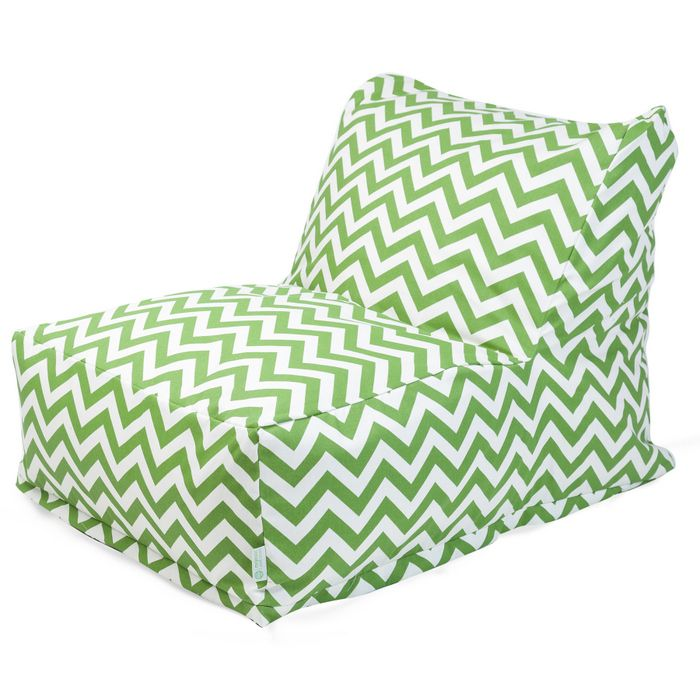 Majestic Home Goods Sage Zig Zag Bean Bag Chair Lounger
