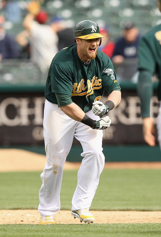 Jonny Gomes. Oakland A's. The A's were an AMAZING story this season. Bay Bridge World Series soon? #ALWestChamps #BayAreaBaseball