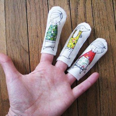 ~Super gave vingerpoppetjes om zelf te maken~
