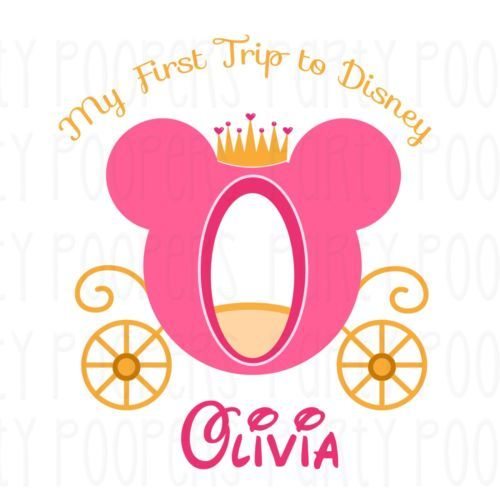 My-First-Trip-to-Disney-Girls-T-Shirt-Personalized-Princess-Carriage