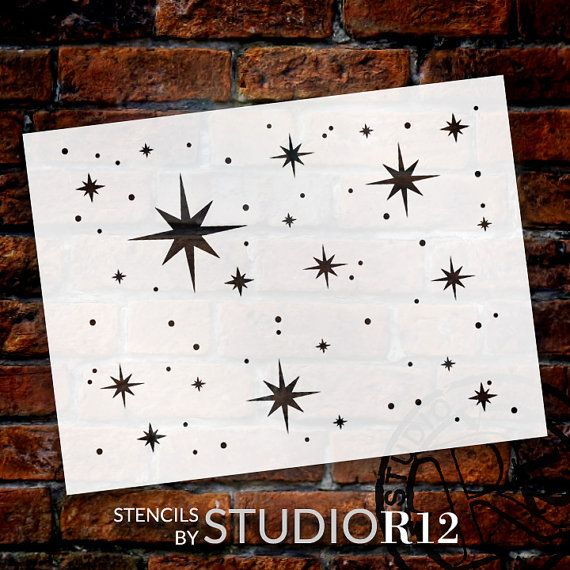 Twinkle Stars Stencil  SELECT SIZE  STCL578  by by StudioR12                                                                                                                                                                                 More