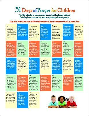 31 Days of Prayer for Children