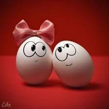 Resultado de imagen para huevos con caras chistosas