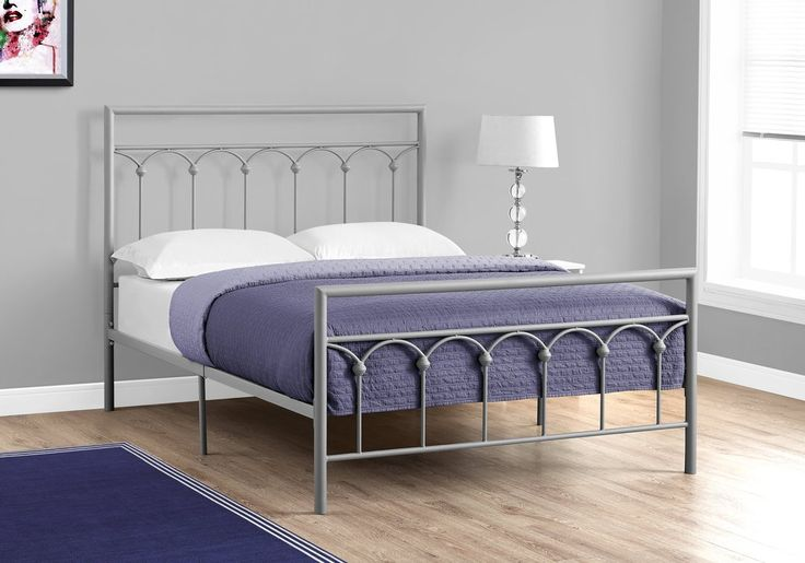 Chapman Platform Double/Full Bed Frame - Silver Metal . . . #furniture #homedecor #interiordesign #design #decor #home #living #office #family #entertainment #luxury #affordable #sale #discount #freeshipping #canada #toronto #usa #america #fashion #design #bedroom #comfort #happy #style #rest #relax