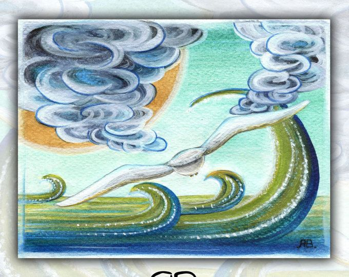 Un volo nell'incanto - illustrazione a tecnica mista (acquerelli, acrilico, pastelli)