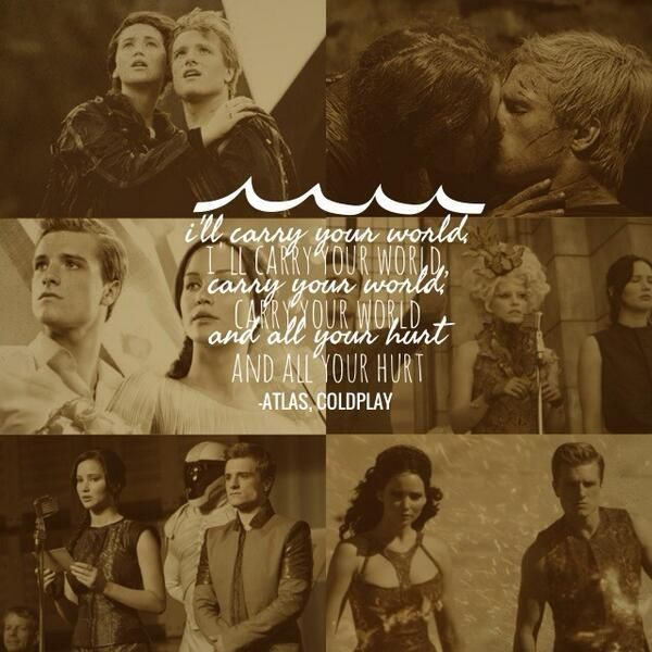 Fan art, lyrics from Coldplay's #ATLAS on the #CatchingFire soundtrack