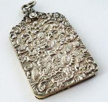 Sterling silver chatelaine aide memoir carnet de bal London 1889