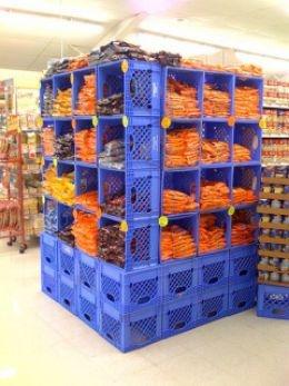 Milk crate shelf