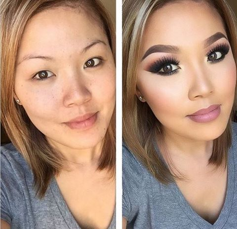 The power of makeup! She looks great before & after :)