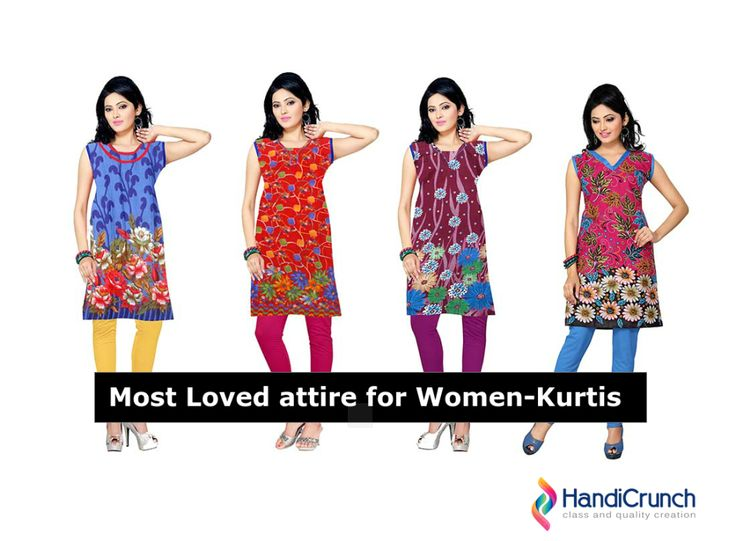 "Looking for favorite attire of women? Check out the blog ""Most loved attire for women-Kurtis"" http://www.handicrunch.com/"