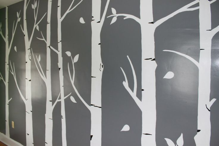 45 best images about kids rooms on pinterest nursery for Birch tree mural nursery