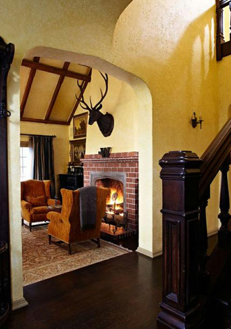 40 best images about tudor style home interior design for Tudor style fireplace