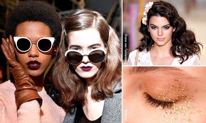 Naturlig makeup har blitt byttet ut med noe dristigere og mørkere – tenk mørke, plommefargede lepper og glitter. Her 5 looks du bør gå for – men tørr du?