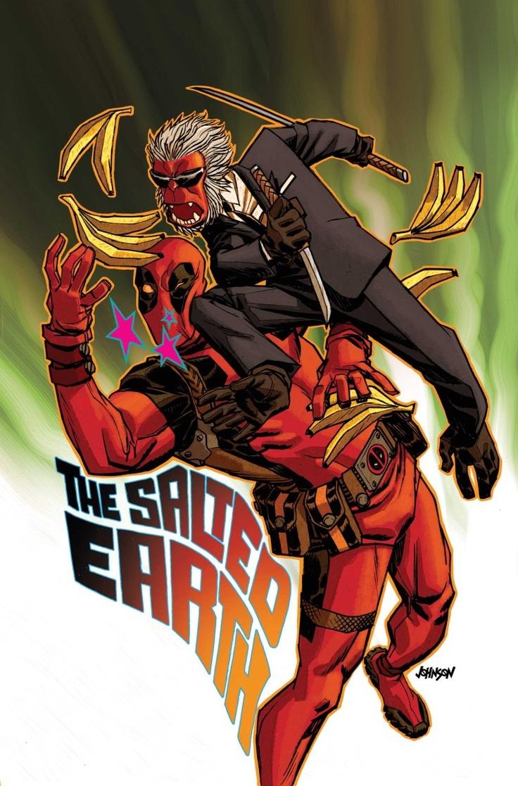 Deadpool vs Hit-Monkey by Dave Johnson | Marvel Universe ...