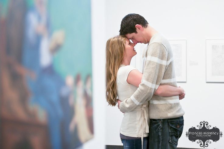 Art Gallery Engagement Photography
