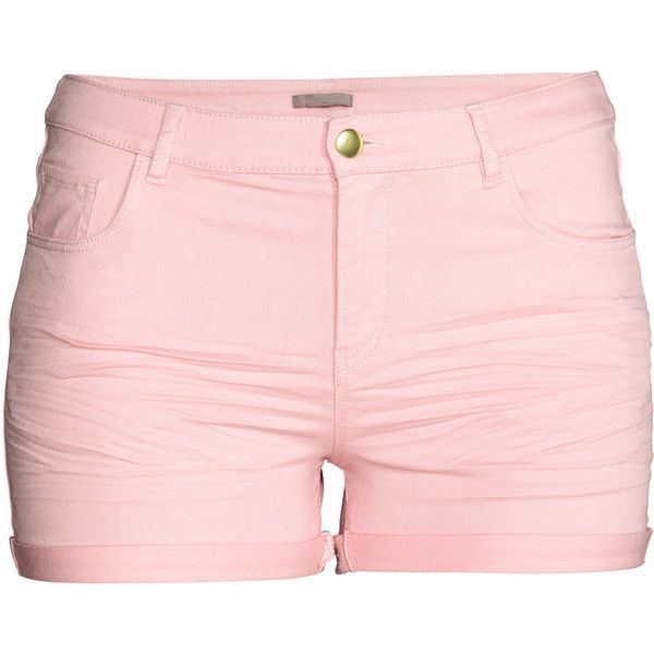 H&M+ Twill Shorts $17.99 (£14) ❤ liked on Polyvore featuring shorts, bottoms, twill shorts, cuffed shorts and h&m shorts