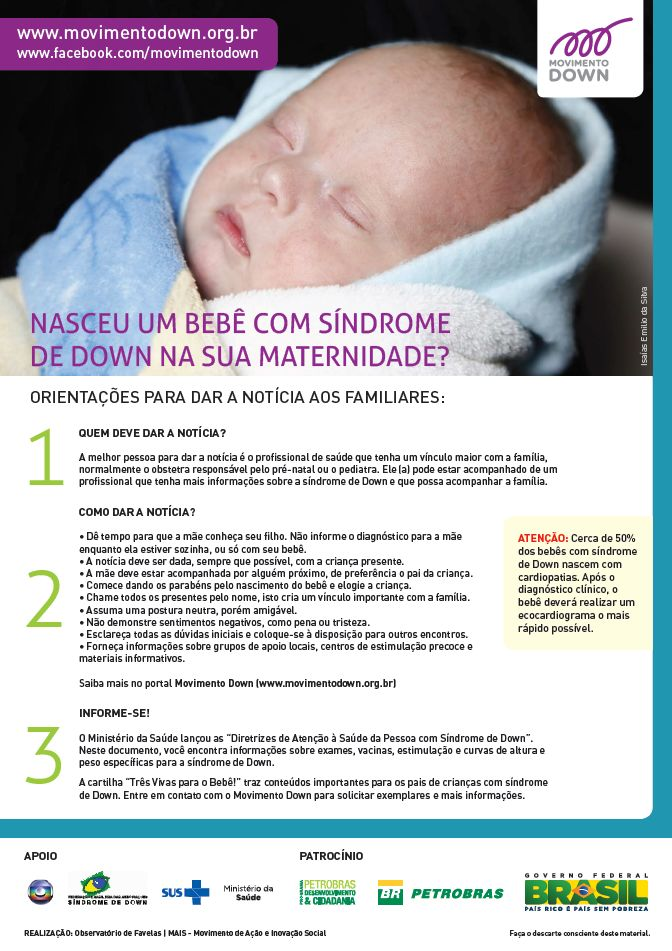 Image result for cartaz maternidade sindrome de down