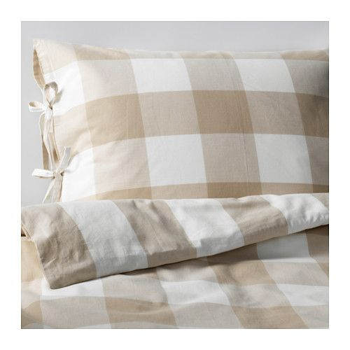 EMMIE RUTA Duvet cover and pillowcase(s) IKEA Yarn-dyed; the yarn is dyed before weaving; gives the bedlinens a soft feel.