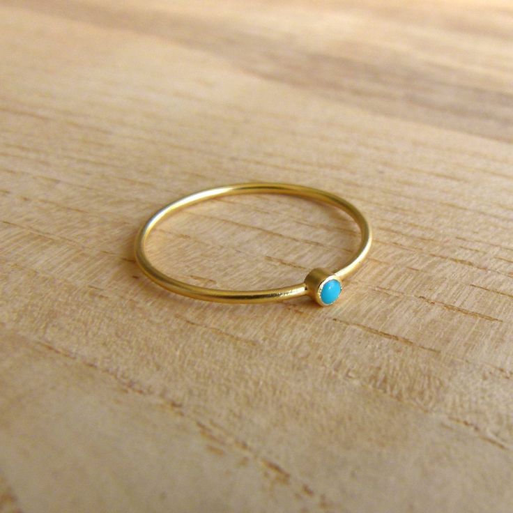 Thin Gold Ring - Delicate Gold Rings - Gemstone Ring. $38.00, via Etsy.